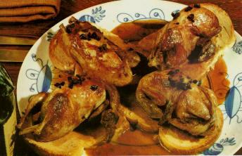 recettes plats de volailles cailles sur canap