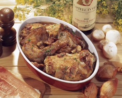 recettes gibiers poils lapin mijot au vin rouge l minc de jambon. Black Bedroom Furniture Sets. Home Design Ideas