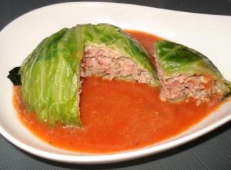 choux farcis au veau et sauce tomate
