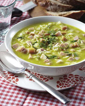 recettes potages et soupes soupe repas de courgette et de jambon. Black Bedroom Furniture Sets. Home Design Ideas
